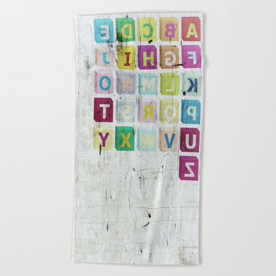 encrypted message Beach Towel