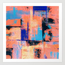 Canvas Abstract Uno Art Print