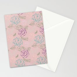 Roses, Embroidery design Stationery Cards