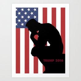 Trump The Thinker Art Print
