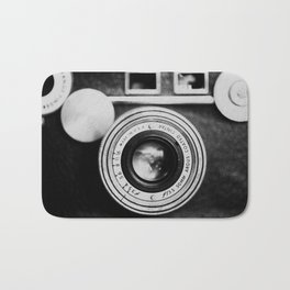"the ""brick"" ... a vintage camera photograph in back and white Bath Mat"