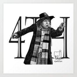 4th Doctor Art Print