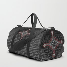 Noble House II CRUSADER RED / Grungy heraldry design Duffle Bag