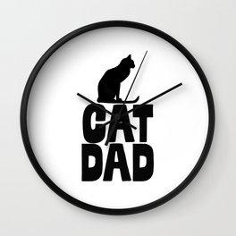 Cat Dad Wall Clock