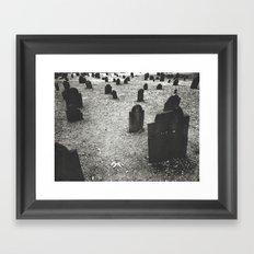 tombstones Framed Art Print