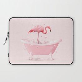 BATHTUB FLAMINGO Laptop Sleeve