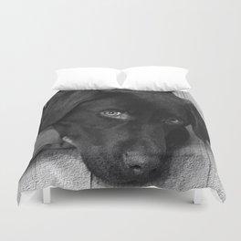 Puppy Portrait Textured Duvet Cover