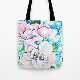 blue flowers c Tote Bag