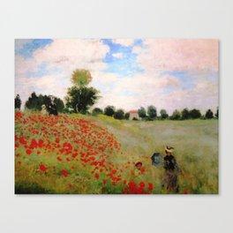 POPPIES - CLAUDE MONET Canvas Print
