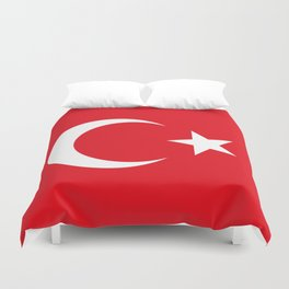 National flag of Turkey, Authentic color & scale Duvet Cover