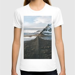 Mountain beach road in Iceland - Landscape Photography T-shirt