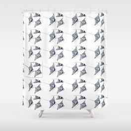 Manta ray devil fish Shower Curtain