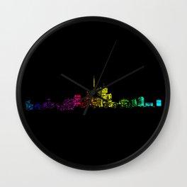 Toronto Skyline Gradient Wall Clock