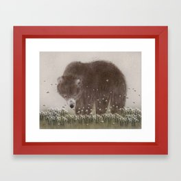The flight of the bumble bee Framed Art Print