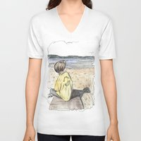 cape cod V-neck T-shirts featuring Cape Cod by Katerina Skassi