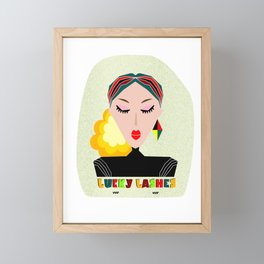 Lucky Lashes. The importance of eyelash extention. Abstract Wall Decor. Modern Art Framed Mini Art Print
