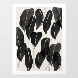 Minimalist Leaves Art Print
