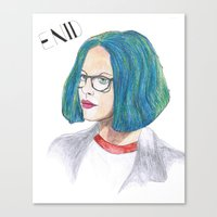 ghost world Canvas Prints featuring Ghost World by holy crow