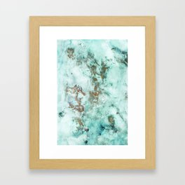 MARBLE - INKED INCEPTION - GOLD & ICE Framed Art Print