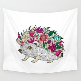Woodland Hedgehog Illustration Wall Tapestry