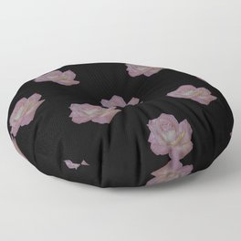 Pink and Yellow Rose Floor Pillow