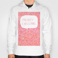 merry christmas Hoodies featuring Merry Christmas! by Fimbis