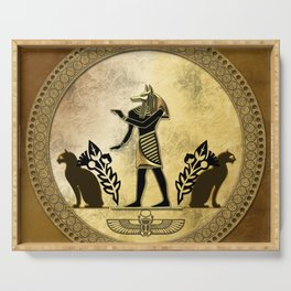 Anubis the egyptian god Serving Tray