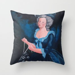 Marie Antoinette, Roller Girl Throw Pillow