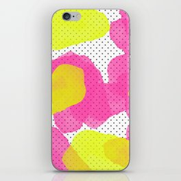 Sarah's Flowers - Abstract Watercolor on Polka Dots iPhone Skin
