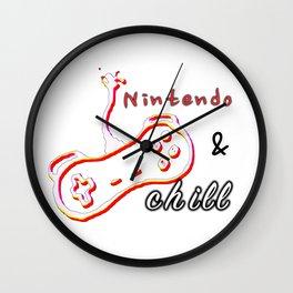 nintendo & chill. Wall Clock