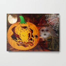 Sirens Pumpkin Carving Halloween Folk Art Metal Print