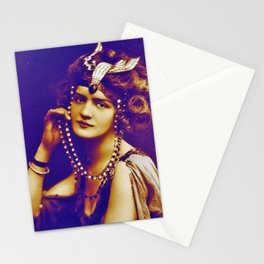 Beauty of Belle Epoque,Lilly Elise Actress,singer, Victorian,art nouveau,edvardian,art deco, movie s Stationery Cards