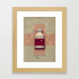 Punk Quotes Poster Serie / Fugazi Said : Promises  Framed Art Print