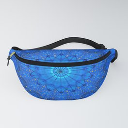Blue and Gold Dots Kaleidoscope Fanny Pack