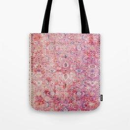 N45 - Pink Vintage Traditional Moroccan Boho & Farmhouse Style Artwork. Tote Bag