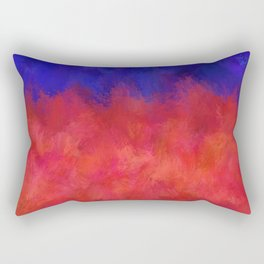Red Pink Blue Color Explosion Abstract Rectangular Pillow
