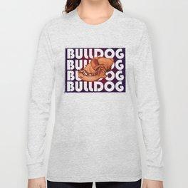 Bulldog Skull Long Sleeve T-shirt
