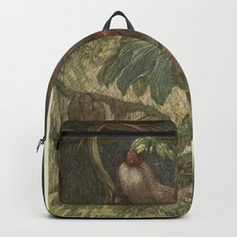 Vintage Sloth Painting (1909) Backpack