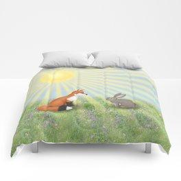 fox and bunny Comforters