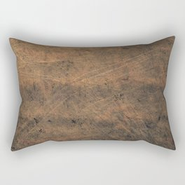 Scratched Suede Tobacco Rectangular Pillow
