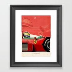 Michele Alboreto - F1 1985 Framed Art Print