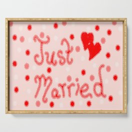 Just Married Serving Tray