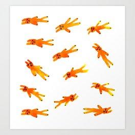 Floating bunny Art Print