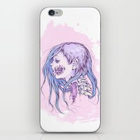 gore iPhone & iPod Skins featuring Pastel Gore Girl by Savannah Horrocks