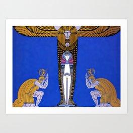 "Art Deco Orientalism ""Cleopatra"" Design Art Print"