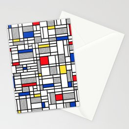 Map Lines Mond Stationery Cards