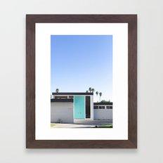 Turquoise Door, Palm Springs Framed Art Print