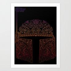 Bobba Neon Fett Art Print