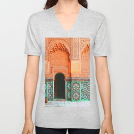 marrakech doorway Unisex V-Neck