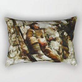 In The Trenches, WWI Rectangular Pillow